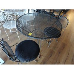 Black Iron Patio Set w/2 Chairs