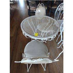 White Iron Patio Set w/2 Chairs