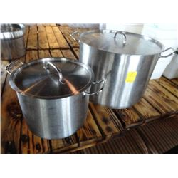 S/S Lidded Stock Pots (2)