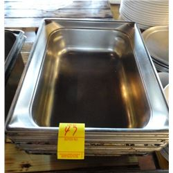 "6 S/S Half x 4"" Insert Pans - 6 Times the Money"