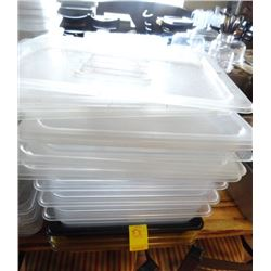 "7 Cambro Half x 2"" Insert Pans w/Lid - 7 Times the Money"