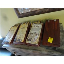 Wood Menu Holders