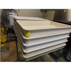 10 White Bakery Trays - 10 Times the Money