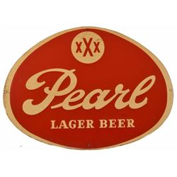 Vintage Pearl Beer Sign