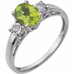 14kt. Peridot or Amethyst and Diamond Ring