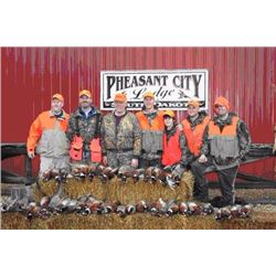 2 day/2 night all inclusive guided pheasant hunt for 2 hunters