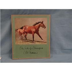 "C.W. Anderson portfolio,  The Look of a Thoroughbred, 8 prints, all 11"" x 13"", ca 1963"