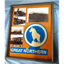 GNRY decal and photos and other memorabilia, framed