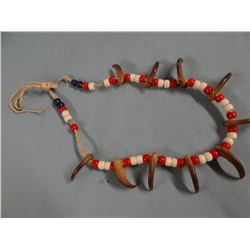 Black bear claws necklace, with beads, Blackfeet, Fields Collection
