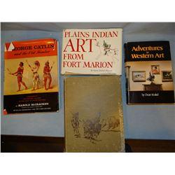 4 books: Plains Indian Art, K. D. Peterson, dj, 1971; George Catlin, H. McCracken, dj, 1959; Book of