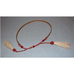 Braided horsehair hatband, made in Mike Durfee State Prison, Springfield, South Dakota