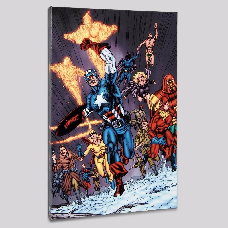 Avengers Invader 11 Limited Edition Giclee On Canvas By Steve Sadowski And Marvel Comics Numbere