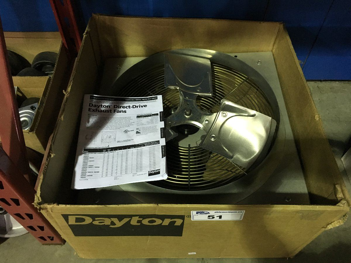 48 Direct Drive Exhaust Fans : Dayton direct drive exhaust fan able auctions