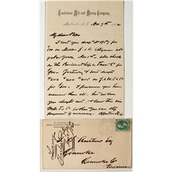 Tombstone Mill & Mining Company Letterhead with Corner Cover