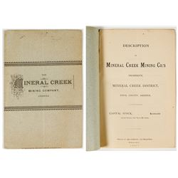 Prospectus for The Mineral Creek Mining Company