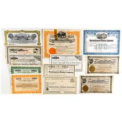 Central Mother Lode California Mining Stock Certificates