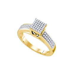 Genuine 0.25 CTW Diamond Ladies Ring 10KT Yellow Gold - GD63814-REF#26F9N
