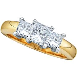 Genuine 0.75 CTW Diamond Ladies Ring 14KT Yellow Gold - GD19447-REF#113M2F