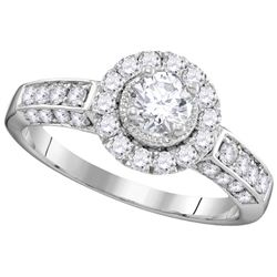 Natural 1.0 ctw Diamond Bridal Ring 14K White Gold - GD106254-REF#161K9T