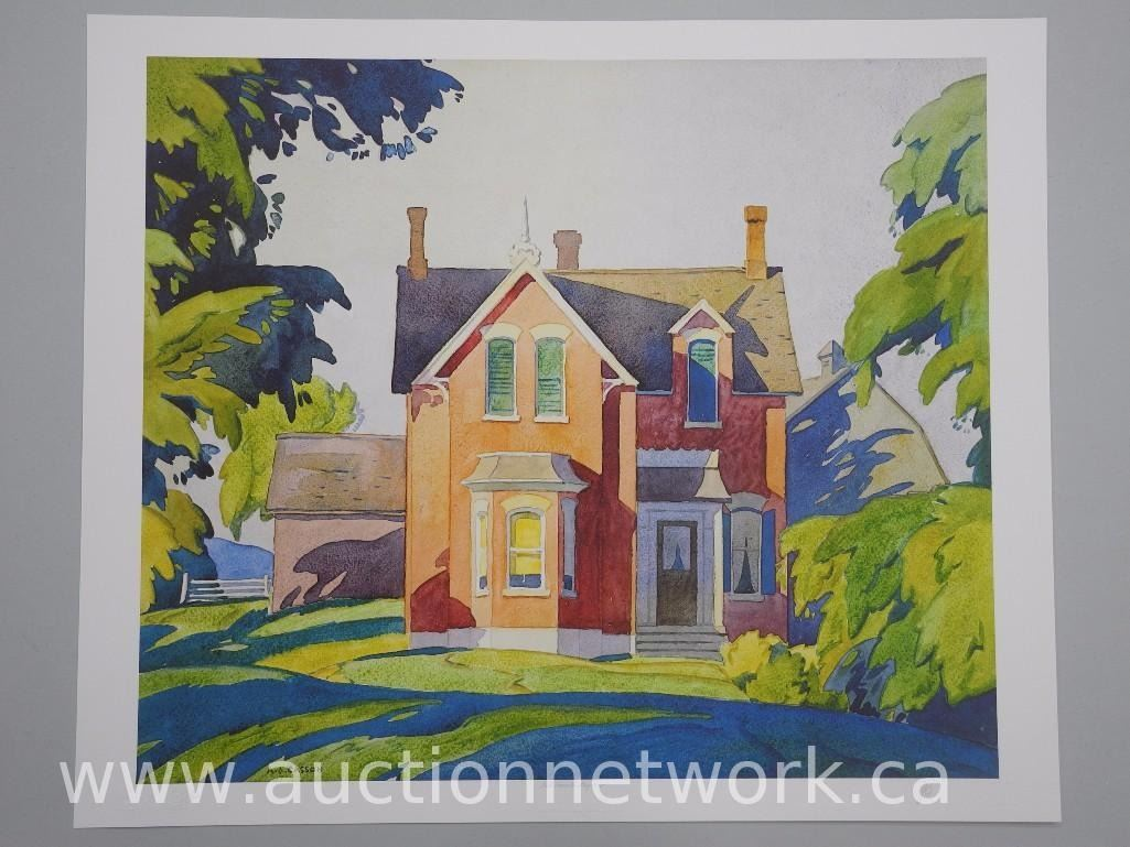 2x a j casson 1898 1992 ontario ii litho 39 s 39 old house for Classic house 1992