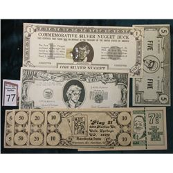 "Various Hokey Money: $ Phil Silvers ""Gardner Money Just For Fun ""Youll Never Get Rich"" Silver's Cert"