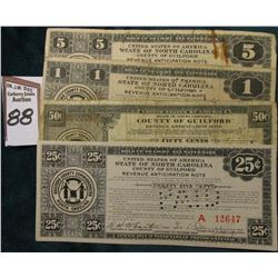 1933 Depression Scrip .25c, .50c, $1, & $5 United States of America State of North Carolina County o