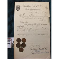 """ 1904 Business Letter Head with receipt ""Acorn Stoves and Ranges…Aurora, Illinois""; & 1900-04 India"