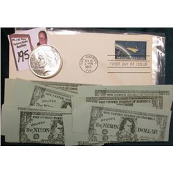 "1922 D U.S. Peace Silver Dollar, BU; Cape Canaveral, Fla. Feb 20, 1962 First Day Cover ""Project Merc"