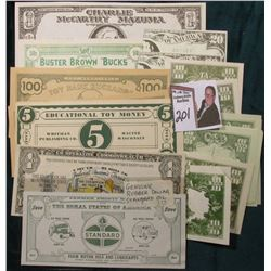 "More than (20) various funny, comical, or Play Notes.  Includes a Rubber ""Standard Oil"" Note. Crazy,"