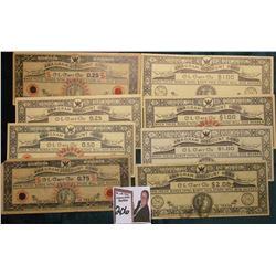 "(8) Different Depression Scrip notes from ""Anagram Systems Inc., Batavia, N.Y."" (2) .25c, .50c, .75c"