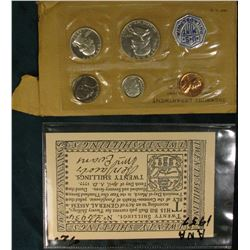 """1957 A.N.A. Convention…Philadelphia, Pa."" Advertising Twenty Shillings 1777 Continental scrip; & 19"