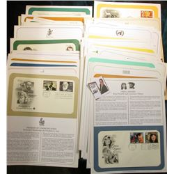 (80) First Day Covers with information pages.