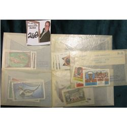 (5) Jamestown Stamp Co. packets with a total of 28 stamps.
