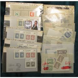 (8) Packets of Canada Mint Stamps (65) total Stamps; (1) Netherlands Amphilex; (4) CAPEX Stamp Sets.