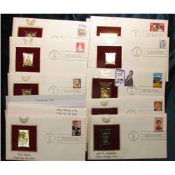 (12) gold replica First Day Covers.