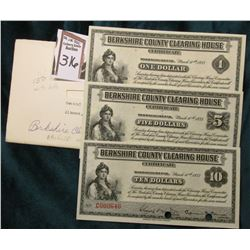 One of a Kind Historical Depression Scrip Memorabilia and notes. March 10, 1933,  Berkshire County C