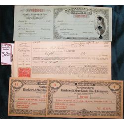 """April 20, 1901 Promissory Note with 2c Revenue Stamp from Post Office Haddam County Washington Stat"
