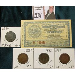 "Series T52-1935 ""The Port of New York Authority Toll Scrip Fifty Cents…""; & 1880, 1881, 1883, & 1884"