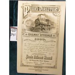 "Early Vignette Advertising sheet ""Poor's Directory Railway Officials 1893…Poor's Railroad Manual…70"