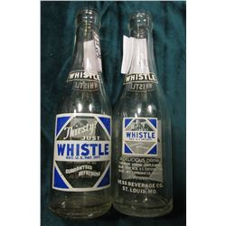 "Pair of 1947 era Pop Bottles: ""Thirsty? Just Whistle"" Vess Beverage Co. St. Louis, Mo. & Belleville"