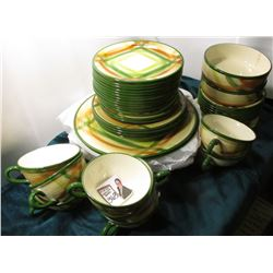 """Authentic Vernonware Made in U.S.A. "", California Tam O'Shanter. 8 place Settings, 44 pcs.  All per"
