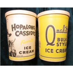"Pair of One Quart ""Hopalong Cassidy's Ice Cream"" Containers. Both appear unused with no lids."