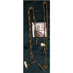 Pair of Antique Gold-Filled Pocket Watch Chains. 'Doc' had priced $40 & $25.00.