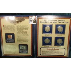 "Vinyl Display Album containing ""The Complete Barber Half-Dollar Mint Collection"". Inlcludes a couple"