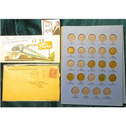 "1929 Stamped Envelope ""Nothern Pacific Railway Company""; Unused Ticket book ""The Texas and Pacific R"