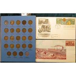 Partial Set of Indian Head Cents in a Whitman folder, (30) Coins with (29) Different Dates; 1950 Jac