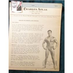 """Charles Atlas"" Health, Strength, & Physique Building System. 12 Lessons."