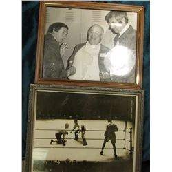 "(2) 8"" x 10"" Black & White Photo of Boxing Champions, in frames."