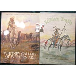 """Indian Trails"", by Nellie Benson Cornelius, c.1993 by Mission Press, 101 pgs; & ""Whitney Gallery of"