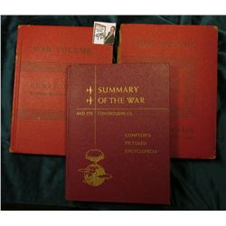 """Summary of the War And Its Consequences"" Compton's Pictured Encyclopedia; & (2) ""War Volume of Comp"